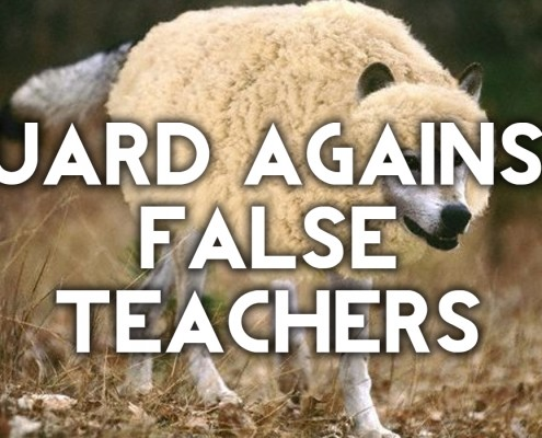 guard against false teaching