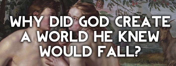why would god create a world he knew would fall