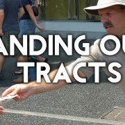 HANDING out tracts
