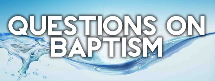 questions on baptism